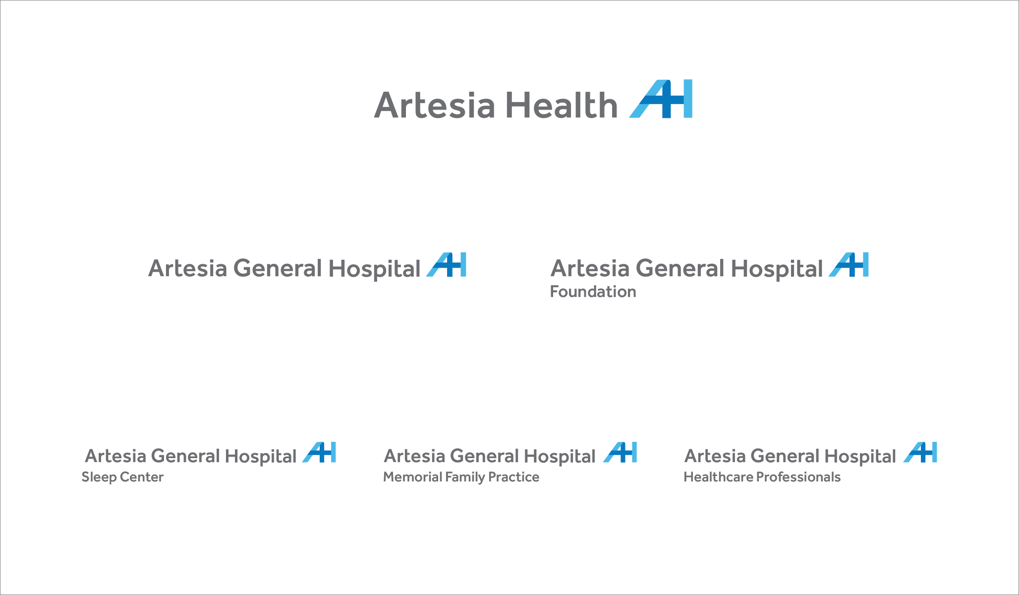 Artesia General Hospital new logo and sub-logos